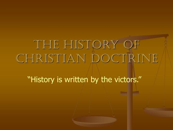 the history of christian doctrine n.