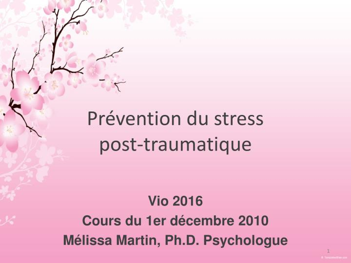 pr vention du stress post traumatique n.