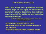 the rand institute