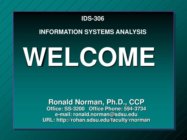 ids 306 information systems analysis n.