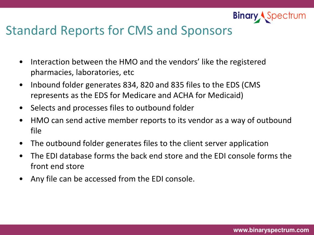 Standard Reports for CMS and Sponsors