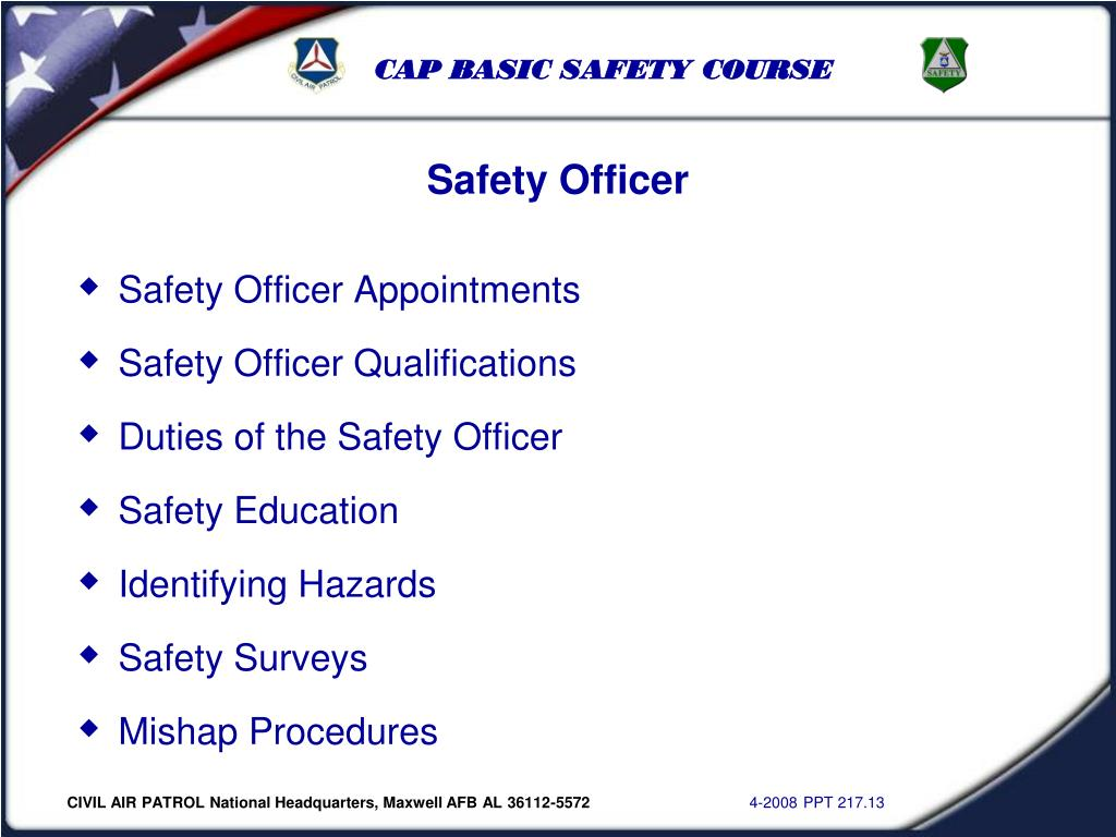 Safety Officer Appointments