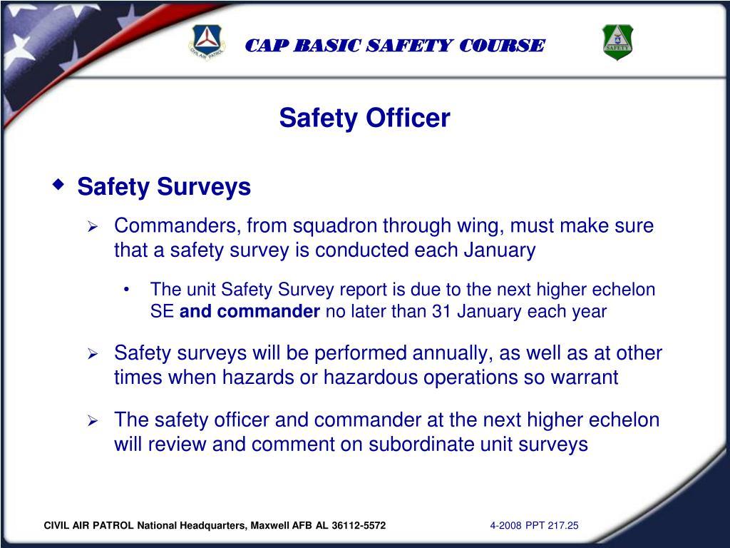 Safety Surveys