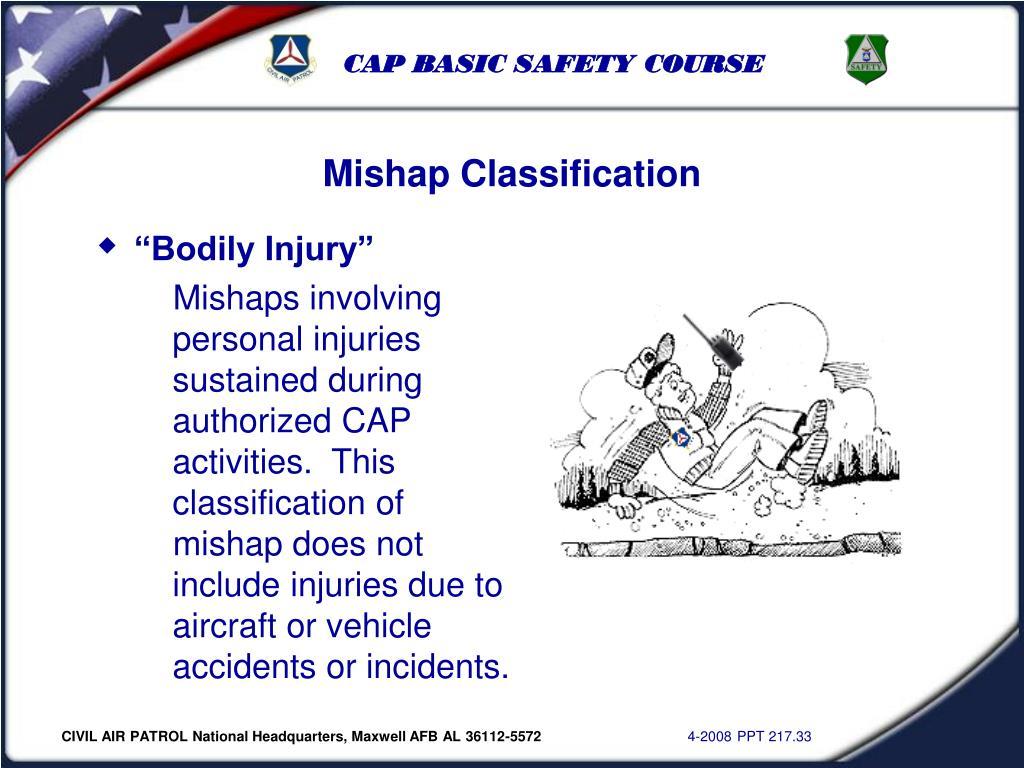 Mishap Classification
