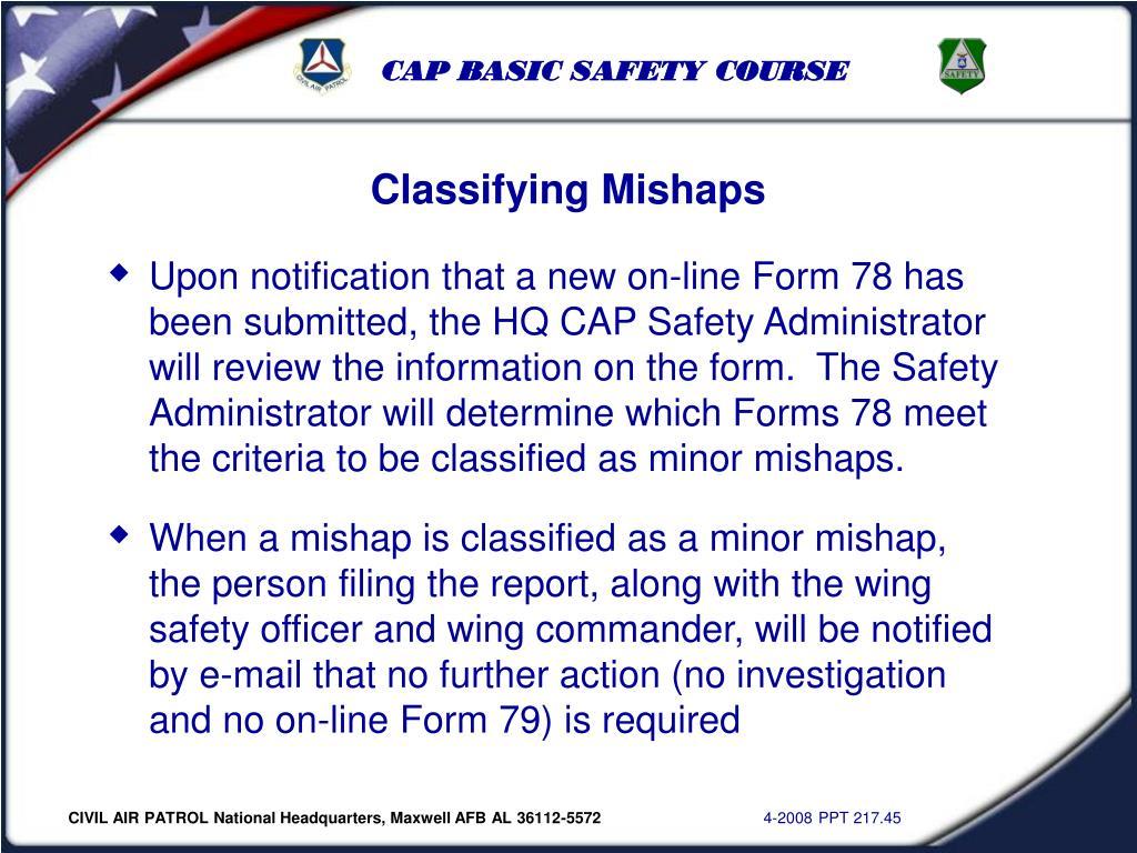 Classifying Mishaps
