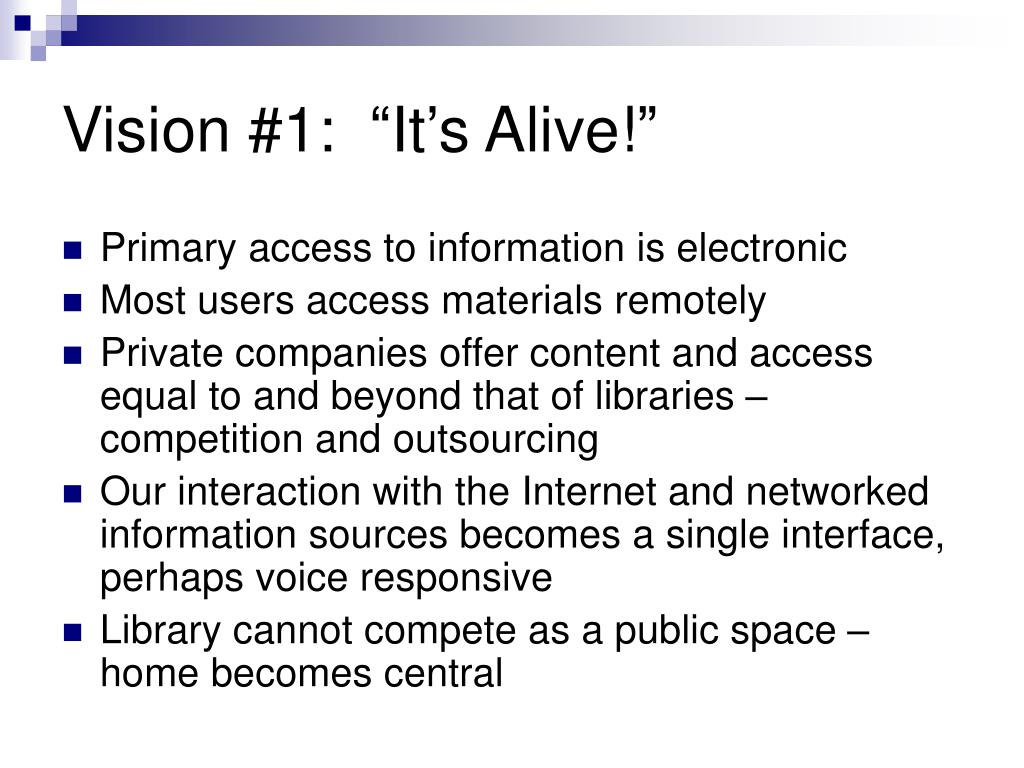 "Vision #1:  ""It's Alive!"""