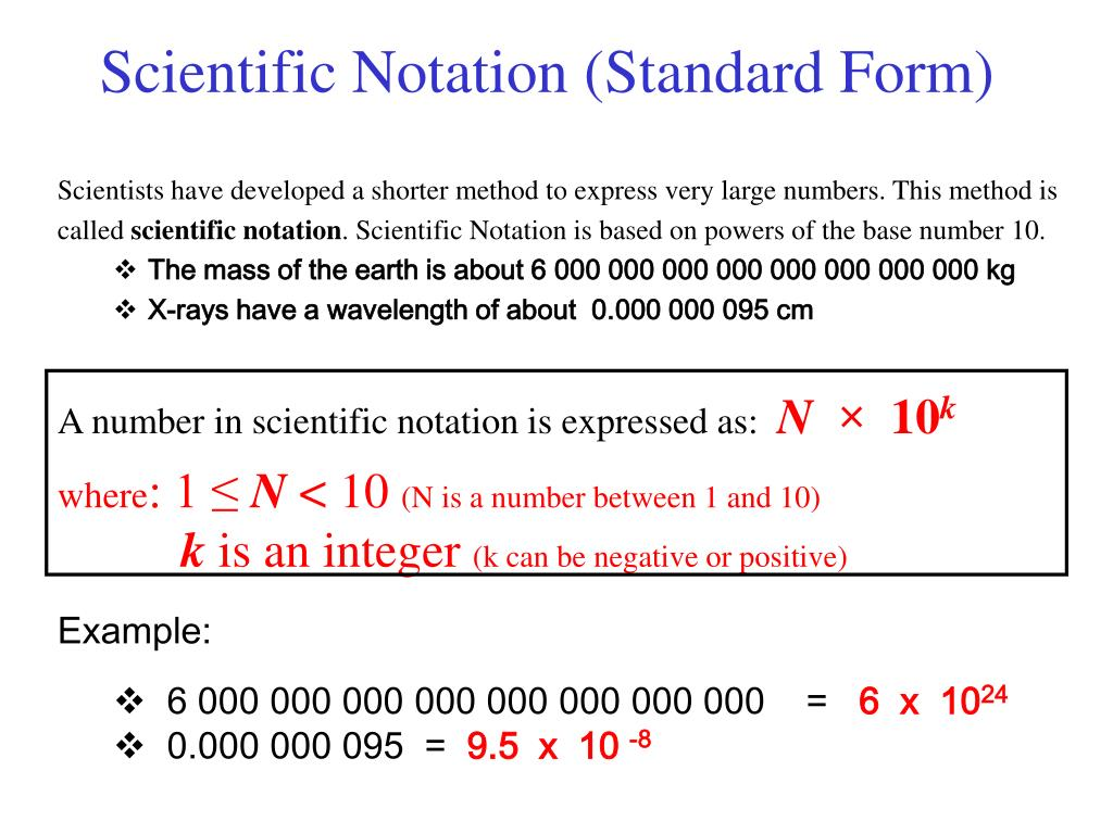 standard form and scientific notation PPT - Scientific Notation (Standard Form) PowerPoint Presentation