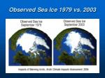 observed sea ice 1979 vs 2003