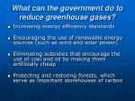 what can the government do to reduce greenhouse gases