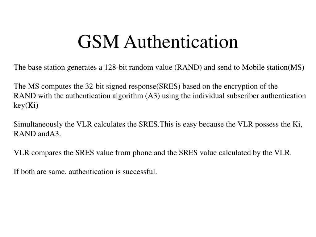 GSM Authentication