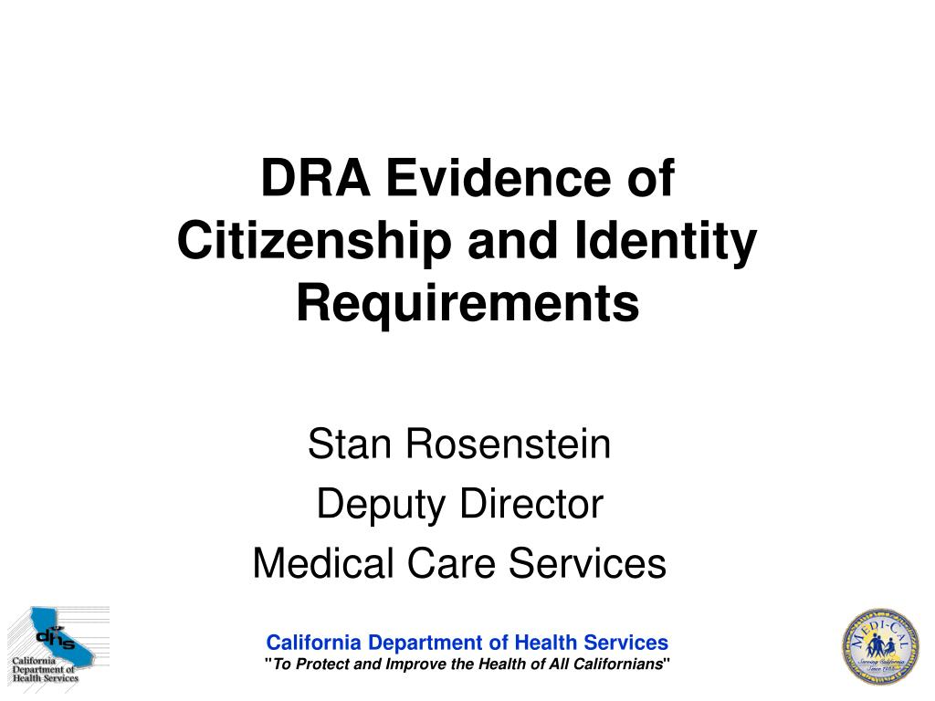 dra evidence of citizenship and identity requirements l.