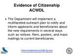 evidence of citizenship acwdl17