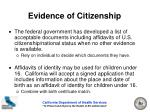 evidence of citizenship14