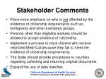 stakeholder comments20