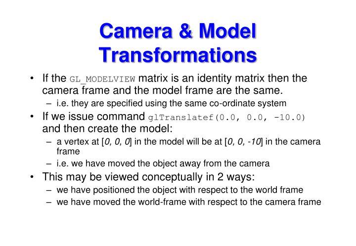 Camera & Model Transformations