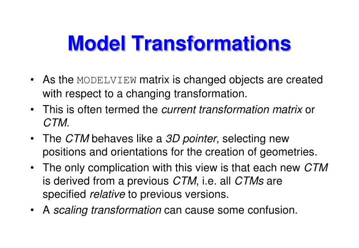 Model Transformations