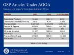gsp articles under agoa8