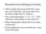 seasonal ozone thinning over poles