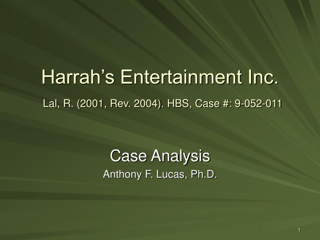 harrah's entertainment inc by rajiv lal Miscellaneous casestudies-2 posted on april 8, 2014 by easyexamz cola wars continue:  harrah's entertainment, inc by rajiv lal, patricia martone carrolo.