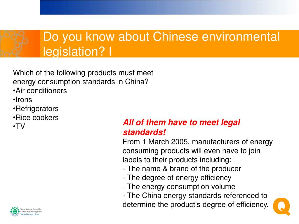 Do you know about Chinese environmental legislation? I