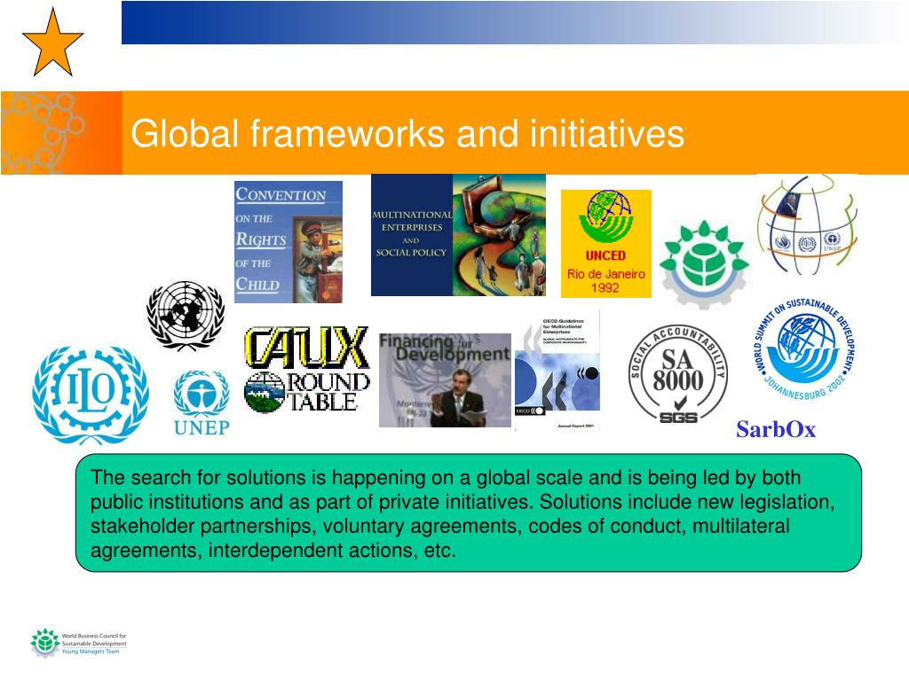 Global frameworks and initiatives