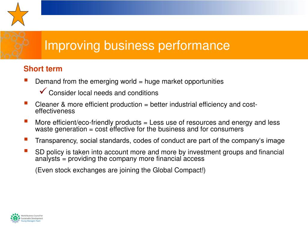 Improving business performance