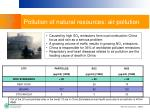 pollution of natural resources air pollution