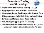 emissions trading and brokering