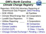 gwi s north carolina climate change registry