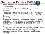 objectives for revising 1605 b