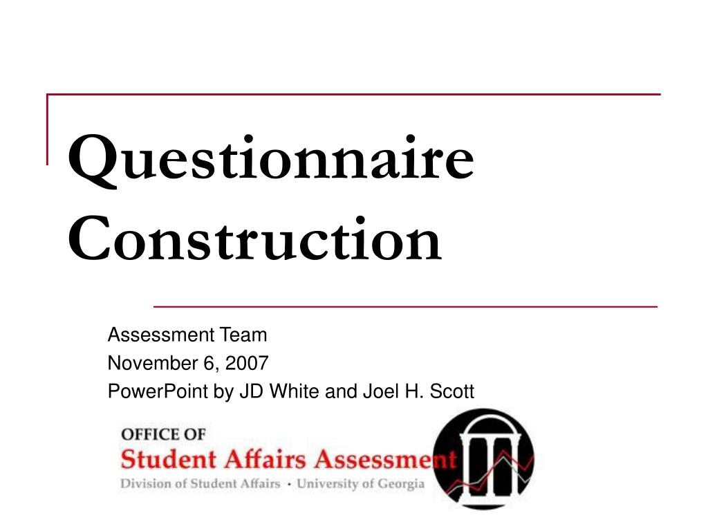 questionnaire construction l.