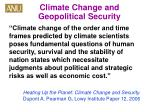 climate change and geopolitical security