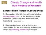 climate change and health dual purpose of research