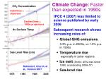 climate change faster than expected in 1990s