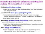 health co benefits from ghg emissions mitigation actions revitalised health promotion