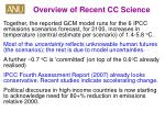 overview of recent cc science