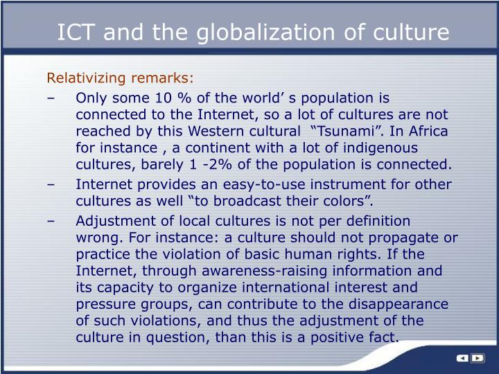 ICT and the globalization of culture