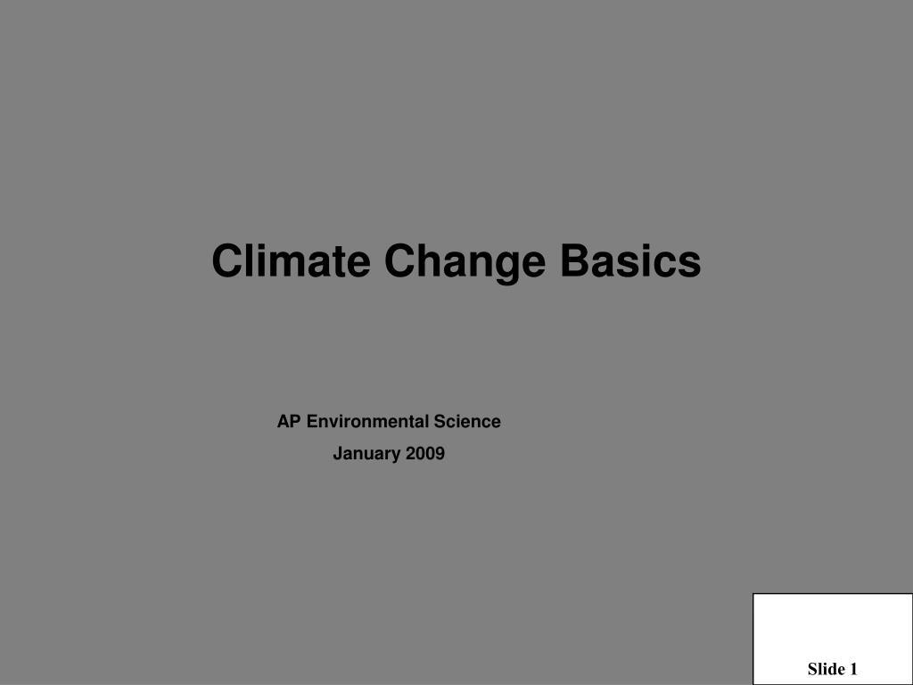 climate change basics l.