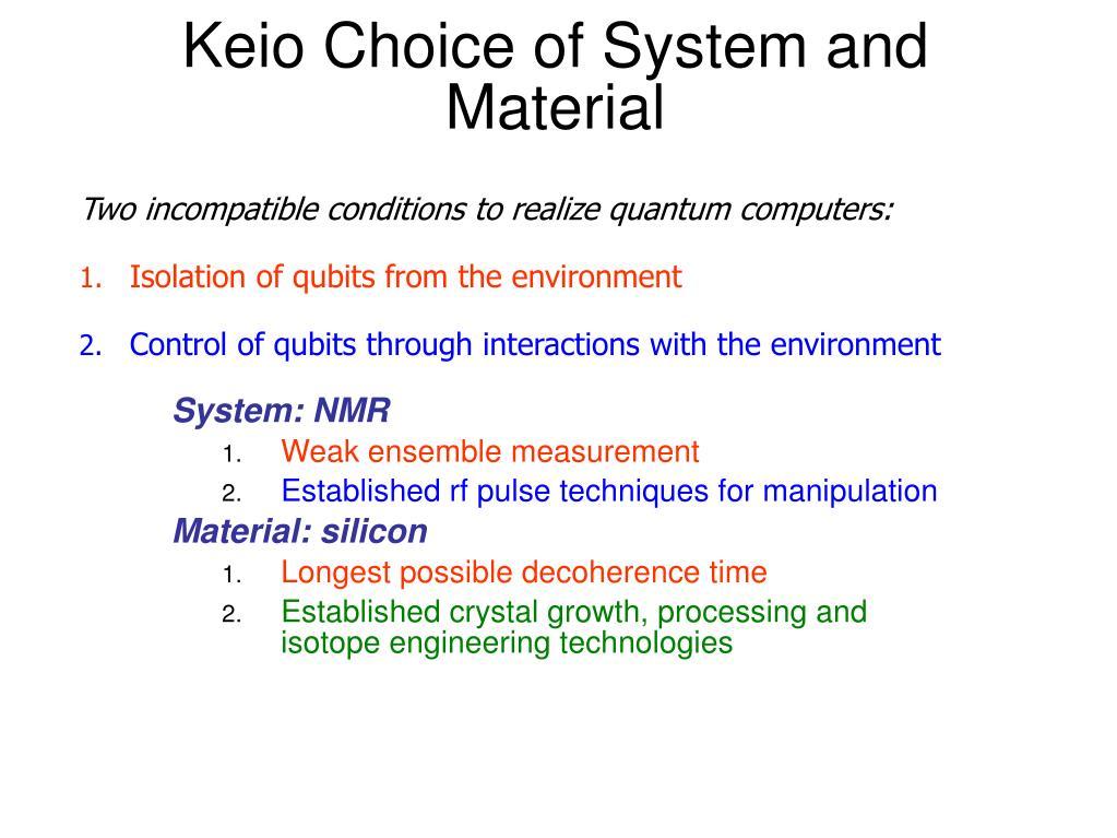 PPT - Introduction to Quantum Computing Lecture 3: Qubit