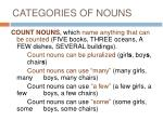 categories of nouns