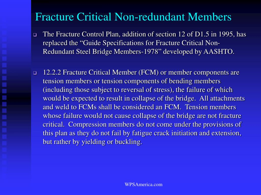Fracture Critical Non-redundant Members