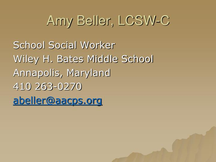 Amy beller lcsw c