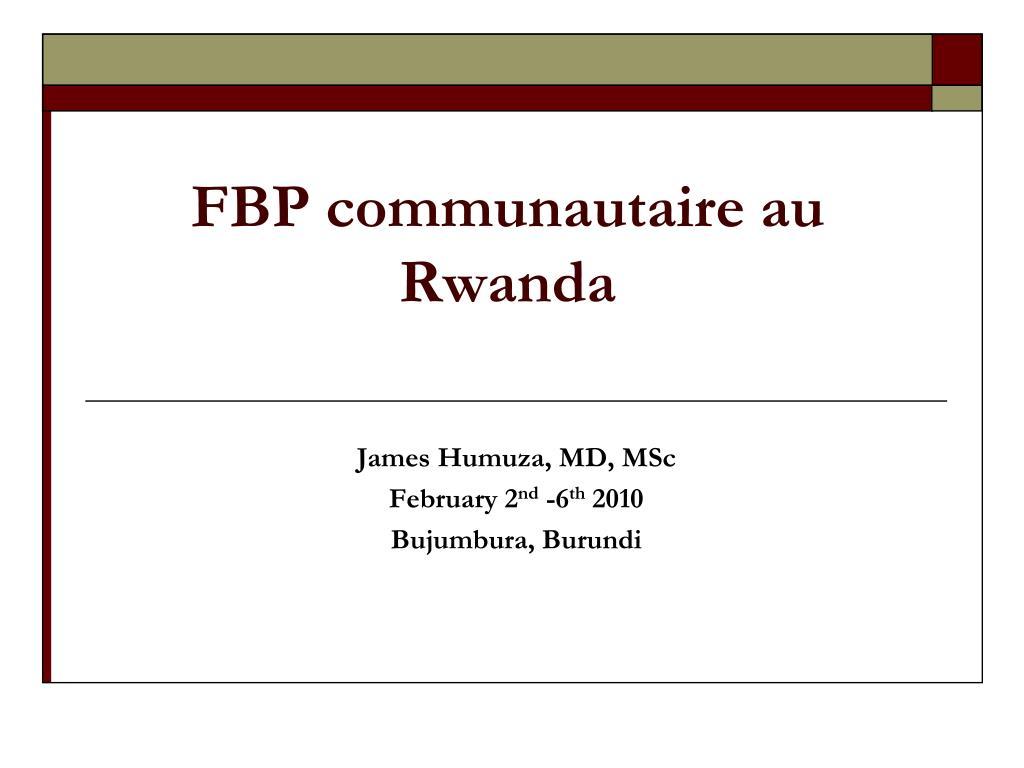 fbp communautaire au rwanda l.