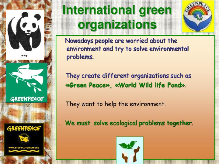 International green organizations