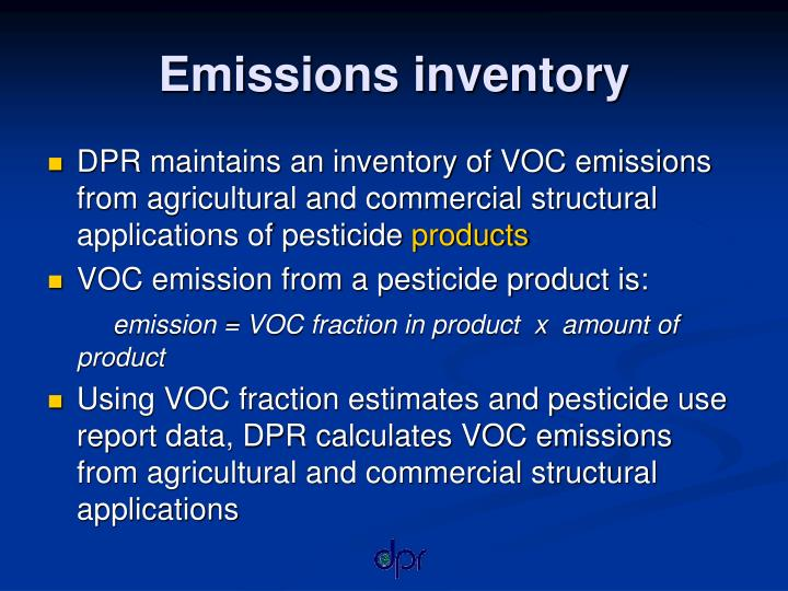 Emissions inventory