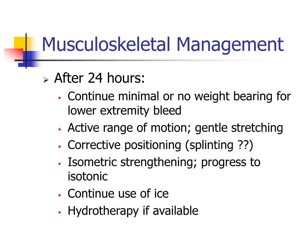 Musculoskeletal Management