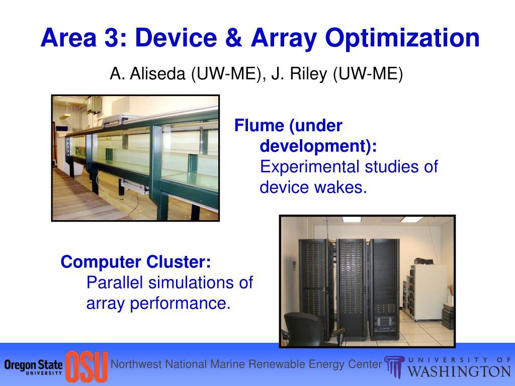 Area 3: Device & Array Optimization