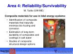 area 4 reliability survivability