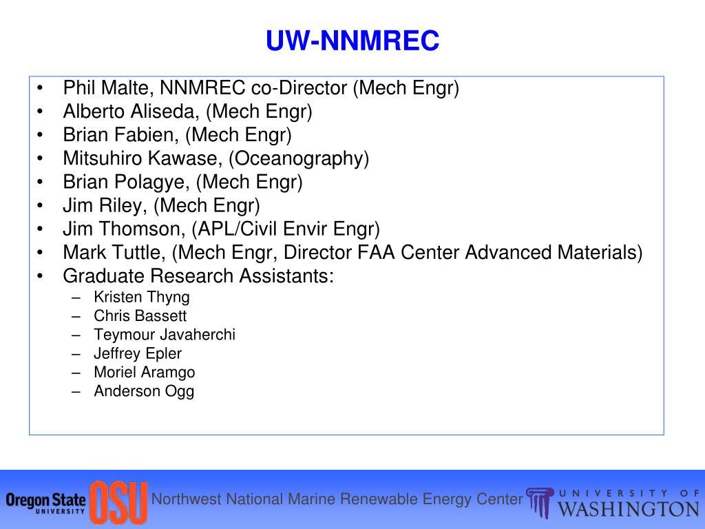 Phil Malte, NNMREC co-Director (Mech Engr)