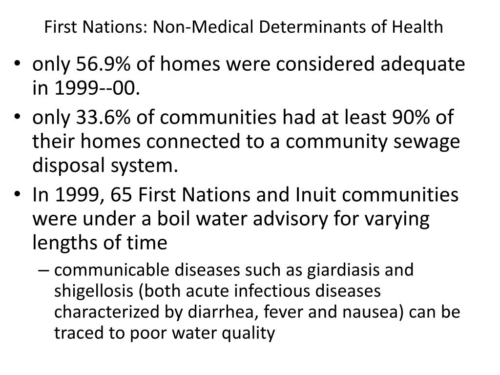 First Nations: Non-Medical Determinants of Health